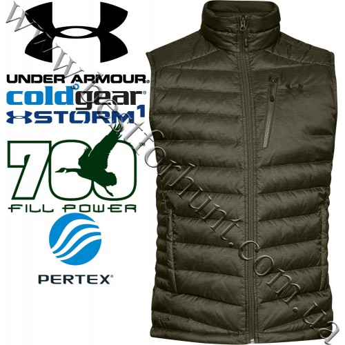 Under Armour® ISO Down 700 Fill Power Vest Marine Od Green-Artillery Green