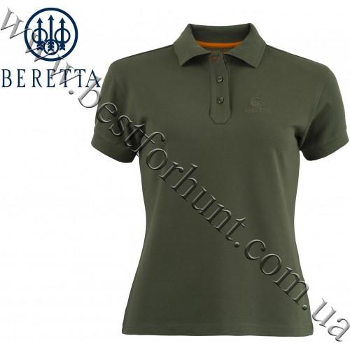 Beretta® Woman's Corporate Signature Polo MD98 Green Leaf