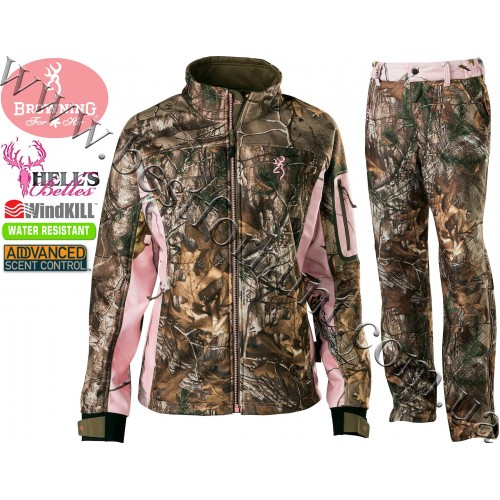 Browning® Hell's Belles™ Soft Shell Set Realtree Xtra®-Realtree AP® Pink