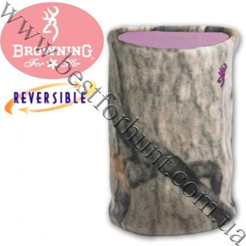 Browning® Reversible Neck Gaiter Mossy Oak® Treestand®-Pink