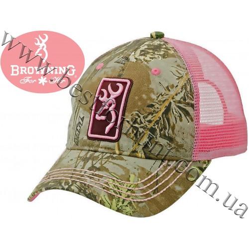 Browning® Women's Buck Mark Conway Mesh Back Cap Realtree MAX-1®-Pink