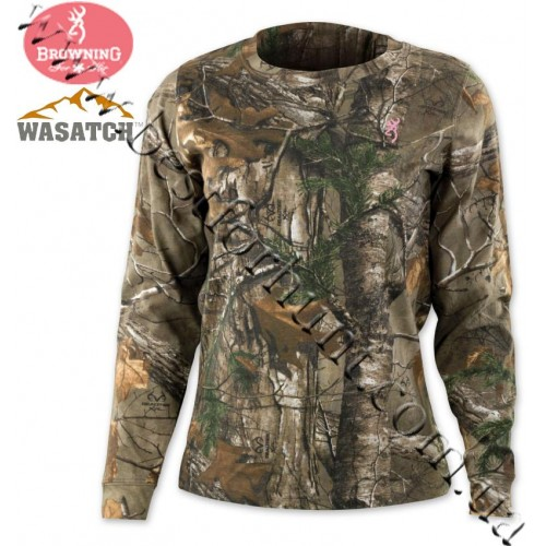 Browning® for Her Wasatch™ Long Sleeve T-Shirt Realtree Xtra®