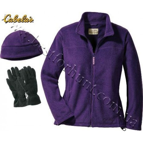 Cabela's Womens' Snake River Jacket And Gloves and Hat Combo Orchid
