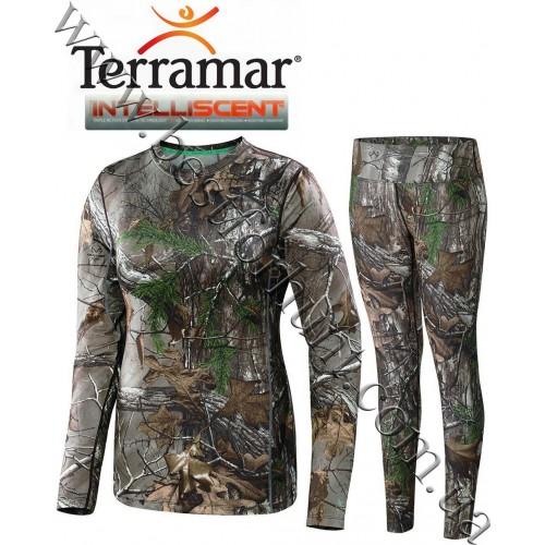 Terramar® Women's 2.0 Stalker INTELLISCENT™ Midweight Base Layer Hunting Set Realtree Xtra®