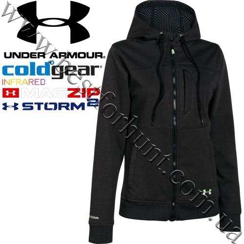 Under Armour® Women's ColdGear® Infrared Storm Dobson Softershell Jacket Asphalt Heather-Glacier Gray