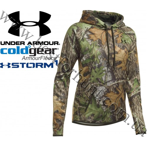 Under Armour® Women's ColdGear® Logo Caliber Hunting Hoodie Mossy Oak® Obsession®
