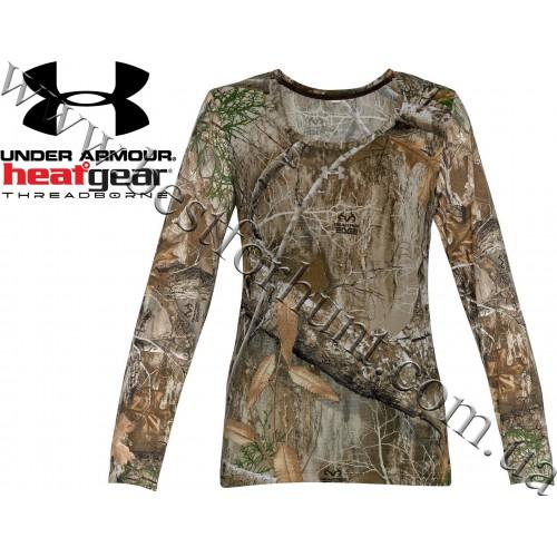 Under Armour® Women's Threadborne™ Early Season Hunting Long Sleeve Shirt Realtree Edge™