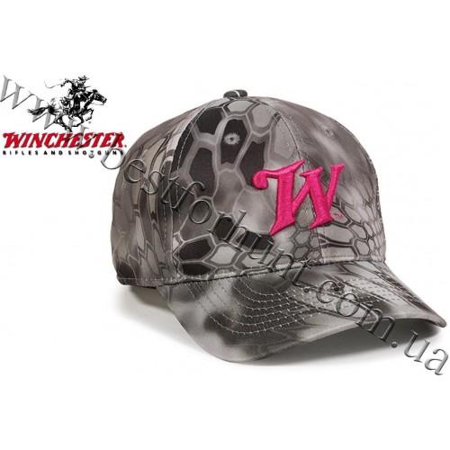 Winchester® Pink Logo Ladies Fit Hunting Cap Kryptek™ Raid™