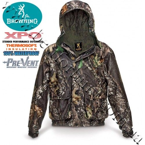 Browning® XPO™ Big Game Junior Pre-Vent® Waterproof Insulated Parka Mossy Oak® Break-Up®