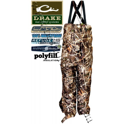 Drake Waterfowl Young Guns LST Insulated Bibs Realtree MAX-4®