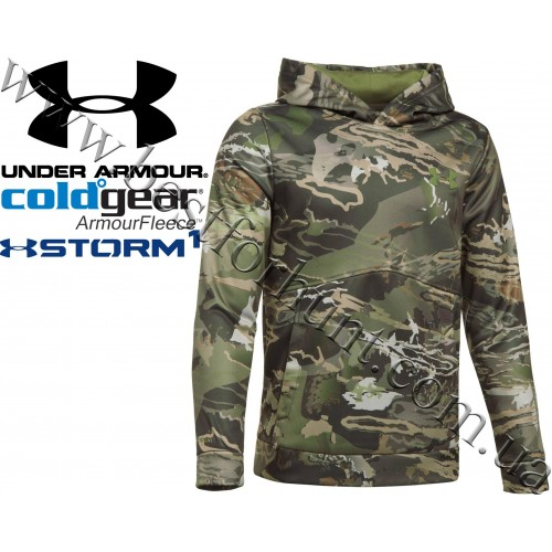 Under Armour® Boys ColdGear® Storm Hunting Hoodie Ridge Reaper Forest®