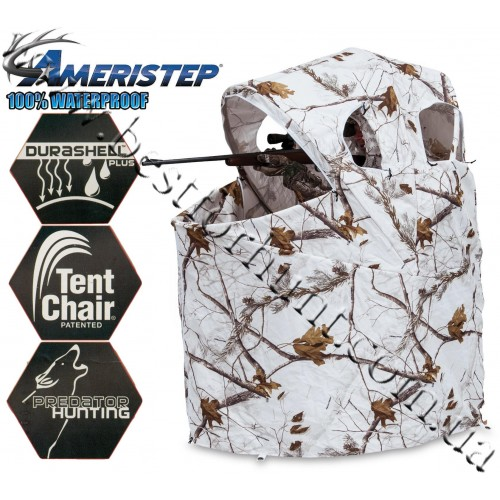 Ameristep® Blizzard Tent Chair Blind Realtree AP® Snow