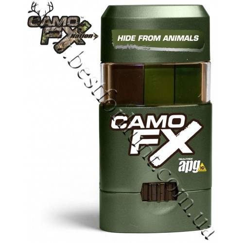 CamoFX® Realtree APG® Face Paint Dark Green-Light Green-Brown