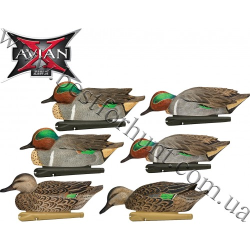 Avian-X® Topflight™ Floating Green-Winged Teal Decoys 6 Pack 8081