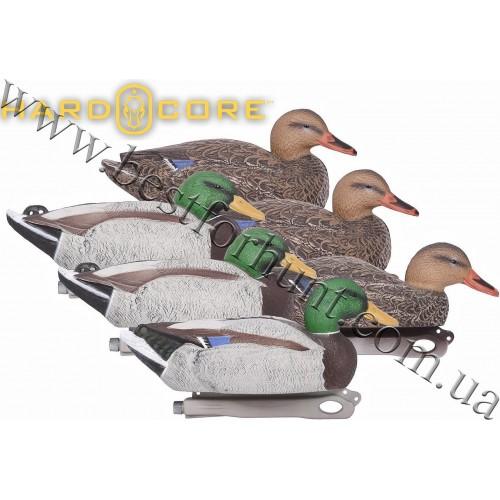 Hardcore® Rugged Series Standard Floating Mallard Decoys 6 Pack