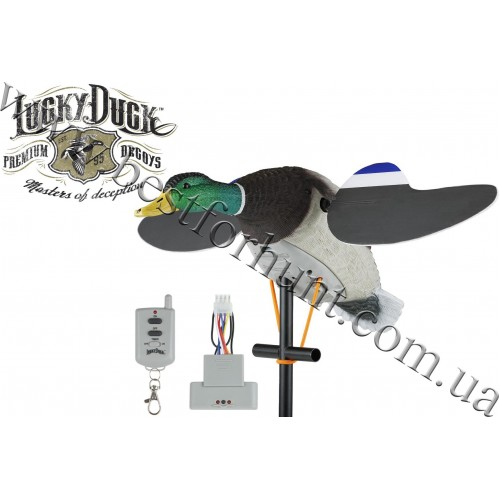 Lucky Duck™ Lucky Junior II Motorized Spinning Wing Decoy with Remote
