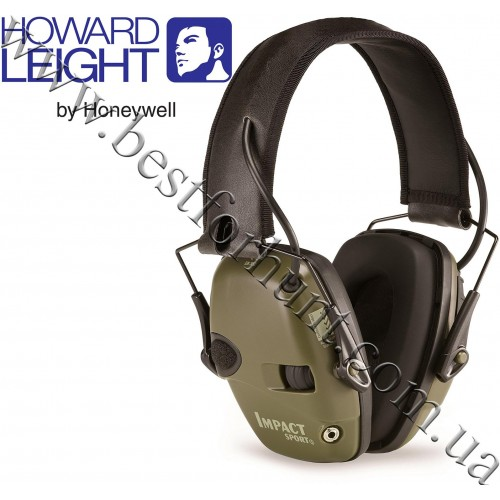 Howard Leight® Impact Sport Electronic Folding Earmuff Classic Green