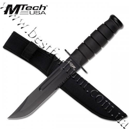 MTech® Fixed Blade Survival Knife Black MT-122BK