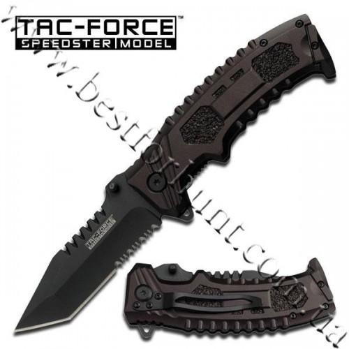 TAC-FORCE™ Black Sawback Tanto Point Tactical Pocket Knife TF-794T