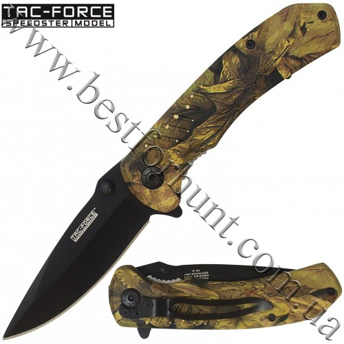 TAC-FORCE™ EDC Fall Camo Spring Assisted Tactical Pocket Knife TF-764CA