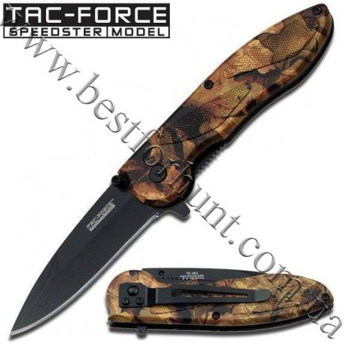 TAC-FORCE™ EDC Jungle Camo Spring Assisted Tactical Pocket Knife TF-463JC