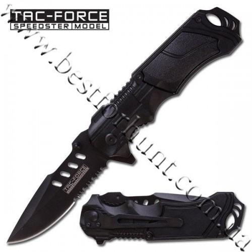 TAC-FORCE™ Spear Point Tactical Covert Pocket Knife TF-690BK