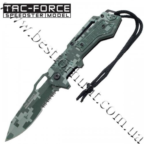 TAC-FORCE™ Speed Assisted Green and Black Digital Camo Tactical Pocket Knife TF-570GC