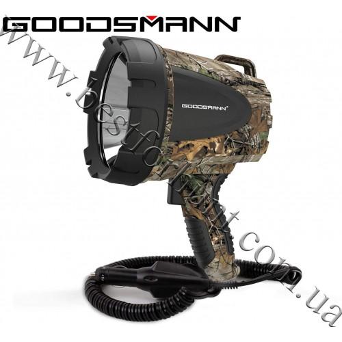 GOODSMANN® Tacticpro Powerful 1500 Lumen 12V Bright High Intensity Halogen Flood Spotlight with DC Plug Realtree Xtra®