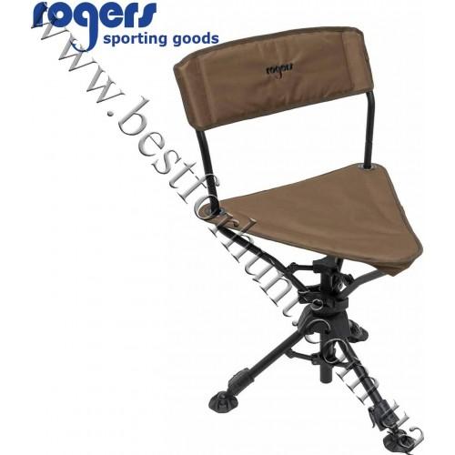 Rogers® Tough Hunter Triad Swivel Chair Brown