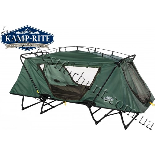 Kamp-Rite® Oversize Tent Cot with Rain Fly Green