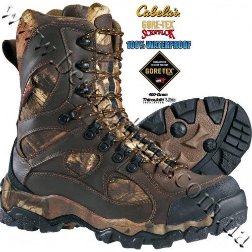 """Cabela's 9"""" 400-Gram Pinnacle™ Hunting Boots with Gore-Tex® Scent-Lok® Mossy Oak® Break-Up® Infinity™"""