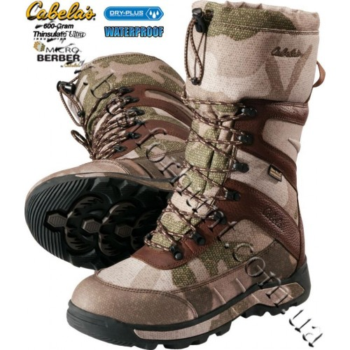 Cabela's Berber Xtreme Pac 600-Gram Insulated Dry-Plus™ Waterproof Hunting Boots Outfitter Camo™
