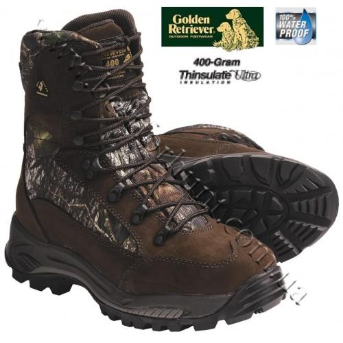Golden Retriever 4662 Panther 400-gram Insulated Waterproof Hunting Boots Mossy Oak® Break-Up®