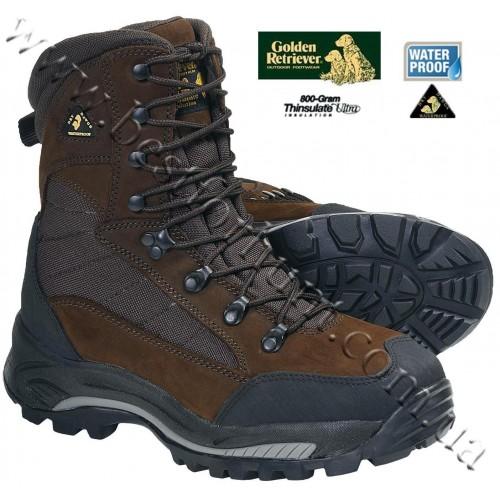 Golden Retriever 4775 Big Horn 800-gram Insulated Waterproof Hunting Boots Brown