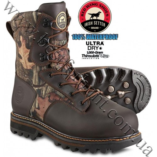 "Irish Setter® 10"" Gunflint II™ 1000g Insulated Hunting Boots 2813 Mossy Oak® Break-Up® Infinity™"