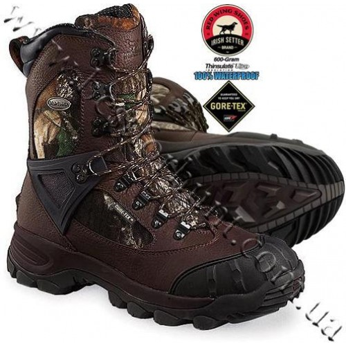 "Irish Setter® 10"" Mountain Claw XT 600-Gram Insulated Hunting Boots Mossy Oak® Break-Up® 2882"