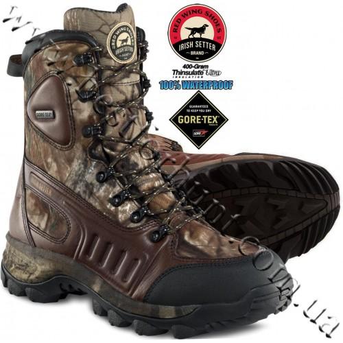 "Irish Setter 10"" Ridgehawk™ 400-gram Insulated Gore-Tex® Waterproof Hunting Boots Realtree AP® 3801"
