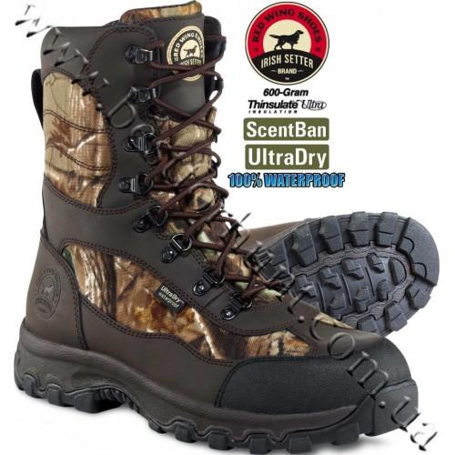 "Irish Setter 10"" Trail Phantom 600-Gram Insulated Hunting Boots Realtree AP® 2822"
