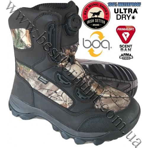 "Irish Setter 10"" Trail Phantom Boa Lacing System 600-gram PrimaLoft® Insulated Hunting Boots 1801 Realtree Xtra®"
