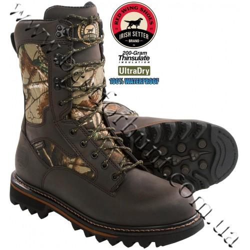 "Irish Setter 11"" Gunflint™ 200-gram Insulated Hunting Boots Realtree AP®"