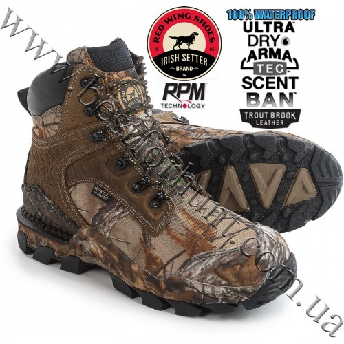 "Irish Setter® 8"" Deer Tracker™ UltraDry™ Waterproof Hunting Boot with ScentBan™ 4833 Realtree Xtra®"