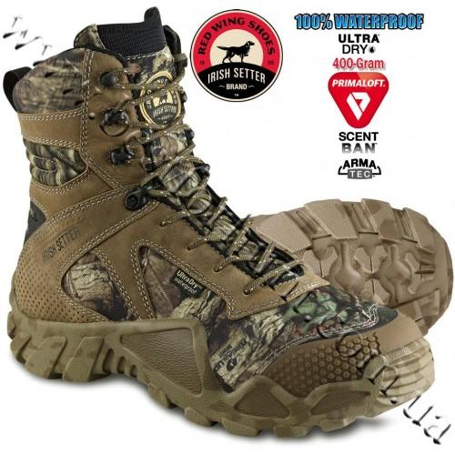 "Irish Setter 8"" Vaprtrek™ 400-Gram Insulated Hunting Boots Mossy Oak® Break-Up® Infinity™ 2874"
