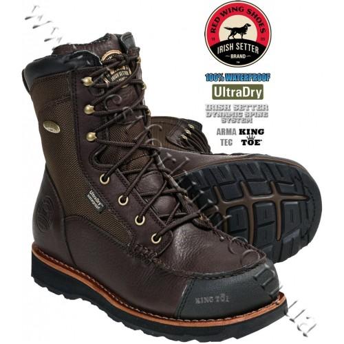 "Irish Setter® 9"" Upland DSS King Toe Waterproof Hunting Boots Brown 820"