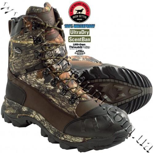 Irish Setter® Grizzly Tracker 1,000-gram Insulated Waterproof Hunting Boots Mossy Oak® Break-Up® 2820