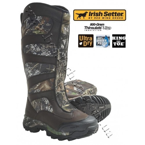 """Irish Setter Outrider 17"""" King Toe Waterproof Insulated Knee Hunting Boots 2842"""