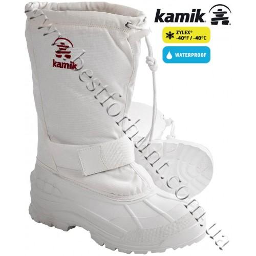 Kamik Greenwood Waterproof Winter Pac Boots White