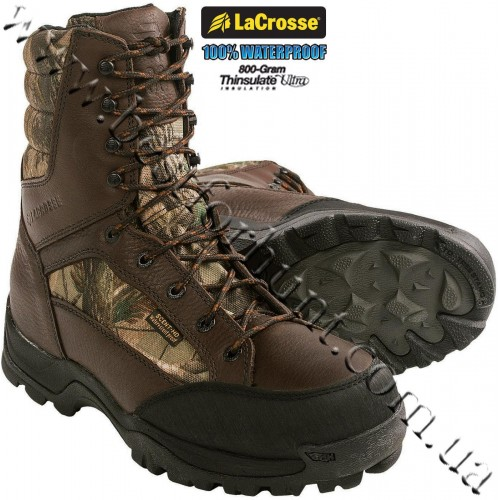 """LaCrosse® 8"""" Big Country Scent HD™ Waterproof 800-gram Insulated Hunting Boots Realtree AP®"""