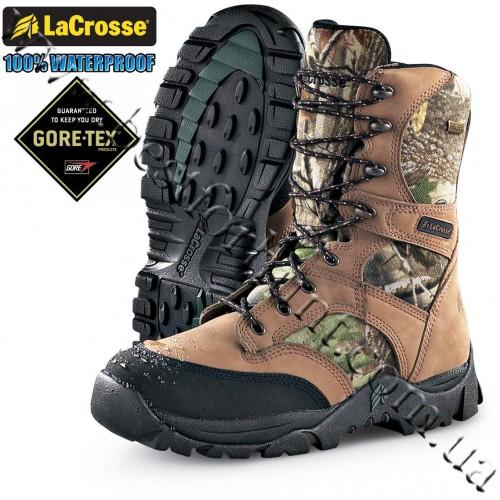 "LaCrosse® 8"" Hawk GTX® Waterproof Hunting Boots Realtree Hardwoods Green HD®"