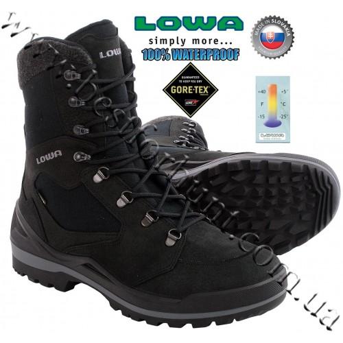 Lowa® Flims™ GTX® Waterproof Snow Boots Black