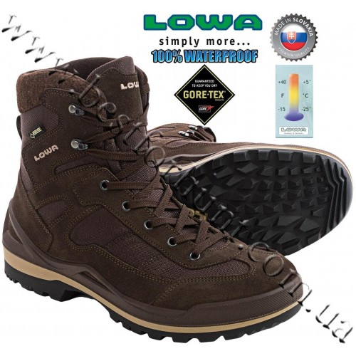 Lowa® Isarco™ GTX® Waterproof Snow Boots Brown